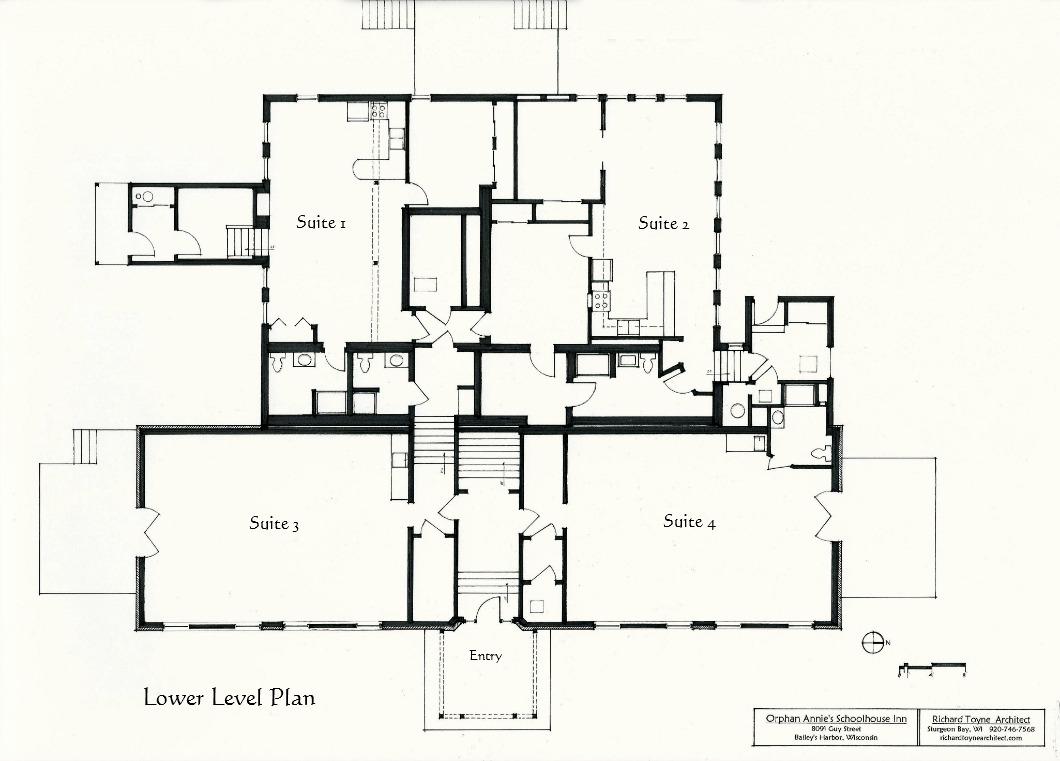 Schoolhouse Inn Plan Richard Toyne Architect